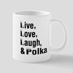 Live Love Polka Dance Designs Mug