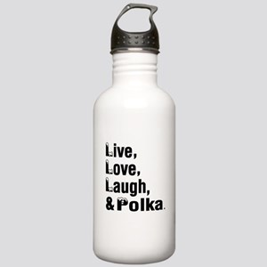 Live Love Polka Dance Stainless Water Bottle 1.0L