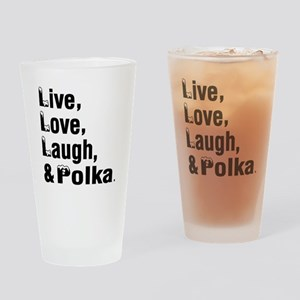 Live Love Polka Dance Designs Drinking Glass