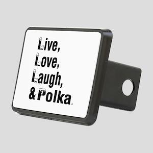Live Love Polka Dance Desi Rectangular Hitch Cover