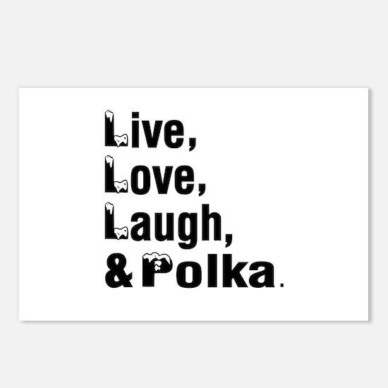 Live Love Polka Dance Des Postcards (Package of 8)