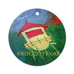Frisco Water Tower Ornament (Round)