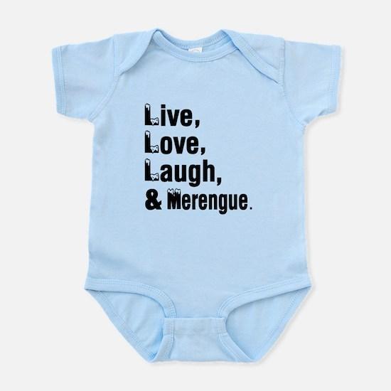 Live Love Merengue Dance Designs Infant Bodysuit