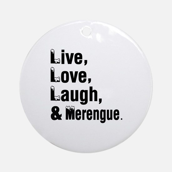 Live Love Merengue Dance Designs Round Ornament