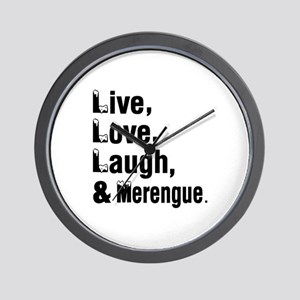 Live Love Merengue Dance Designs Wall Clock