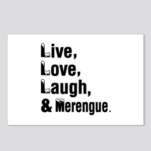 Live Love Merengue Dance Postcards (Package of 8)