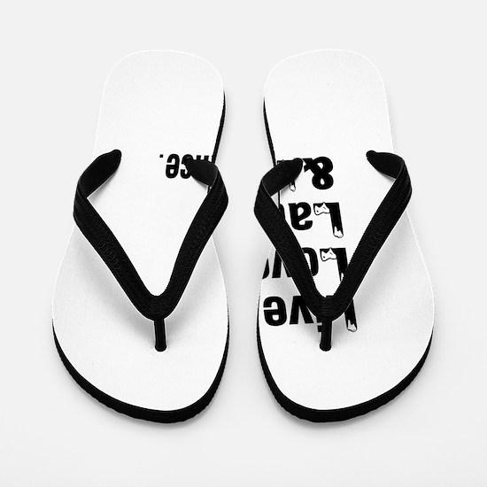 Live Love Latin Dance Designs Flip Flops