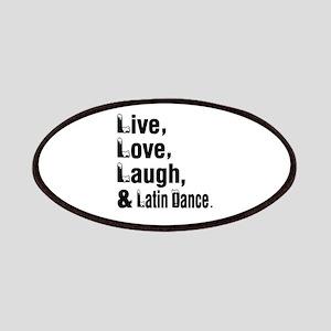Live Love Latin Dance Designs Patch