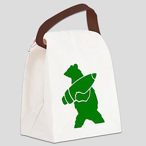 Wojtek the Soldier Bear Canvas Lunch Bag