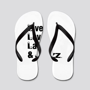 Live Love Jazz Dance Designs Flip Flops