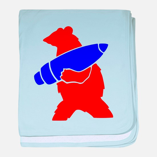 Wojtek the Soldier Bear baby blanket
