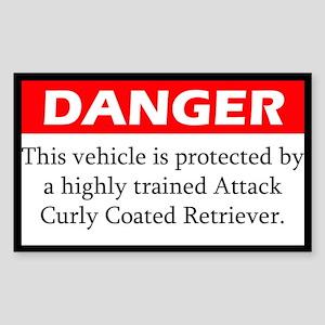 Danger Attack Curly Coated Retriever Sticker
