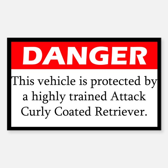Danger Attack Curly Coated Retriever Decal