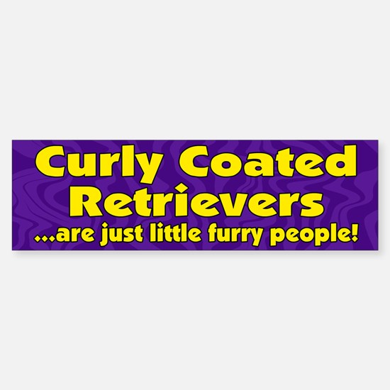 Furry People Curly Coated Retriever Bumper Bumper Bumper Sticker