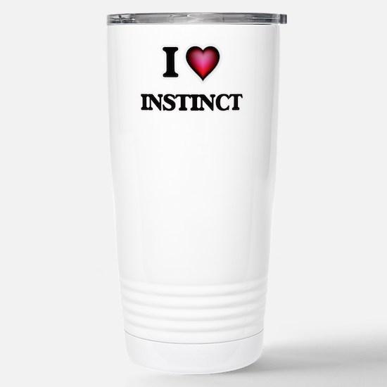 I Love Instinct Stainless Steel Travel Mug