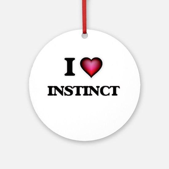 I Love Instinct Round Ornament