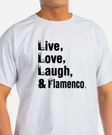 Live Love Flamenco Dance Designs T-Shirt