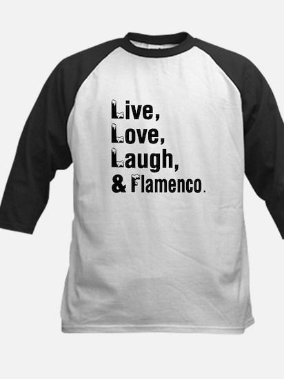Live Love Flamenco Dance Desi Kids Baseball Jersey