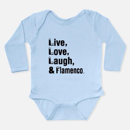 Live Love Flamenco Dan Long Sleeve Infant Bodysuit
