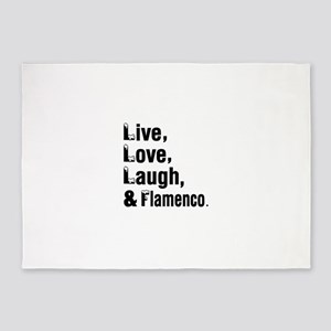 Live Love Flamenco Dance Designs 5'x7'Area Rug