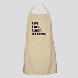 Live Love Flamenco Dance Designs Apron