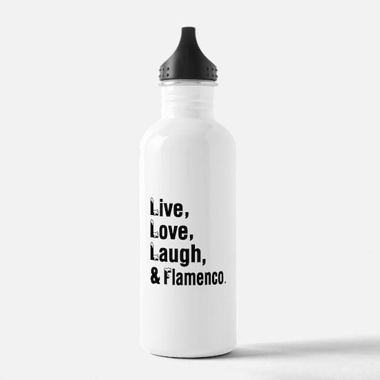 Live Love Flamenco Dan Water Bottle