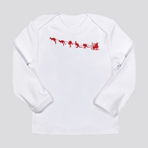Kangaroo Santa Long Sleeve T-Shirt