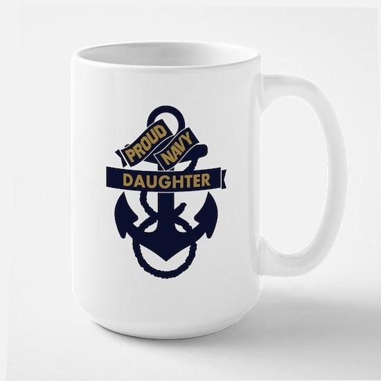 Proud Navy Personalized Large Mug
