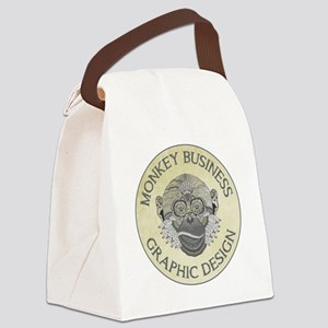 MONKEY BUSINESS GRAPHIC DESIGN Canvas Lunch Bag