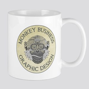 MONKEY BUSINESS GRAPHIC DESIGN Mugs
