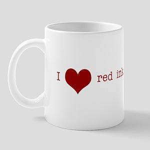 I Heart Red Ink Mug