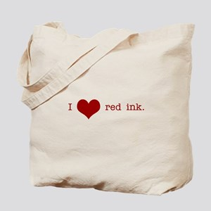 I Heart Red Ink Tote Bag