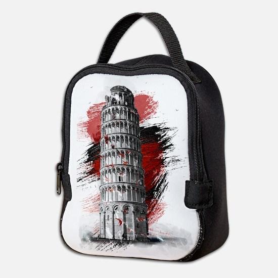 Pisa Italy Neoprene Lunch Bag