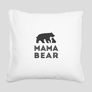 Mama Bear Square Canvas Pillow