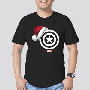 Captain America Santa Men's Fitted T-Shirt (dark)