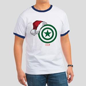Captain America Santa Ringer T