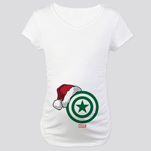 Captain America Santa Maternity T-Shirt