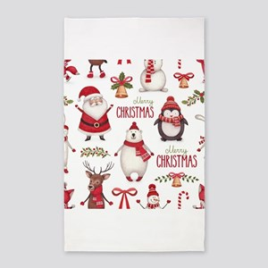 Merry Christmas Pattern Area Rug