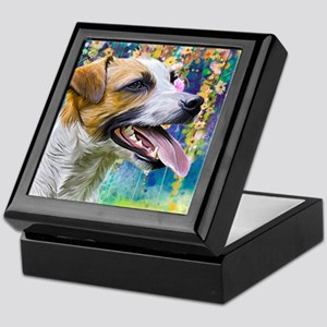 Jack Russell Terrier Painting Keepsake Box