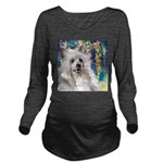 Chinese Crested Painting Long Sleeve Maternity T-S