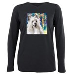 Chinese Crested Painting Plus Size Long Sleeve Tee