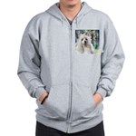 Chinese Crested Painting Zip Hoodie