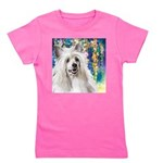 Chinese Crested Painting Girl's Tee