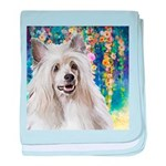 Chinese Crested Painting baby blanket
