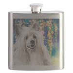 Chinese Crested Painting Flask