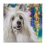 Chinese Crested Painting Tile Coaster