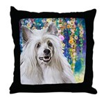 Chinese Crested Painting Throw Pillow