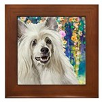 Chinese Crested Painting Framed Tile