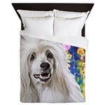 Chinese Crested Painting Queen Duvet