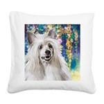 Chinese Crested Painting Square Canvas Pillow